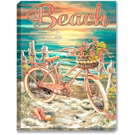 The Glow Store Inc (Glow Decor – 18†x 24†LED Backlit Prints with Remote – All Batteries Included. (Beach)