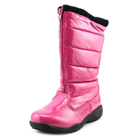 Tundra Puffy Youth  Round Toe Synthetic Pink Winter Boot