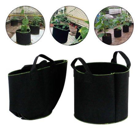 Topeakmart 8 Gallon Potato Planter Bag Felt Grow Pots Vegetable Patio, Growing Bags for Plants with handles for Home Gardening - Growth Friendly (3 Pack)