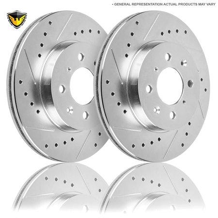 (Duralo Drilled Slotted Front Brake Rotor Kit For Hyundai Sonata & Kia Optima)