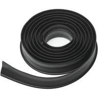 10 ft. Garage Door Weatherstripping - Black