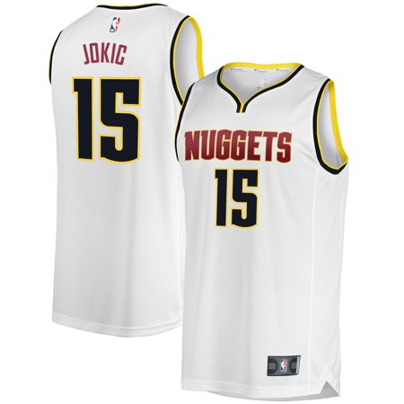 Nikola Jokic Denver Nuggets Fanatics Branded Youth Fast Break Replica Player Jersey - Association Edition - White