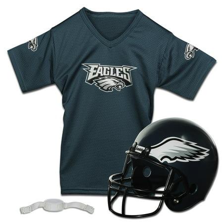 Franklin Sports NFL Philadelphia Eagles Team Licensed Helmet Jersey Set - Swat Team Helmet