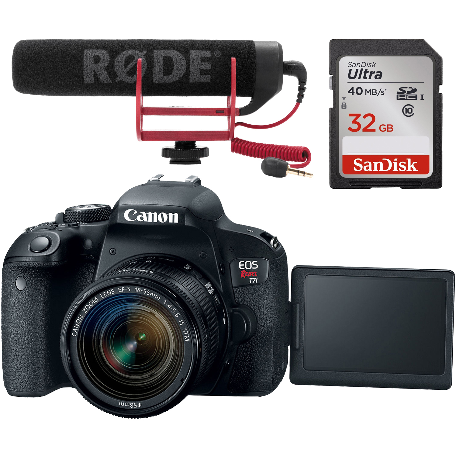 Canon EOS Rebel T7i Digital SLR Camera & EF-S 18-55mm IS
