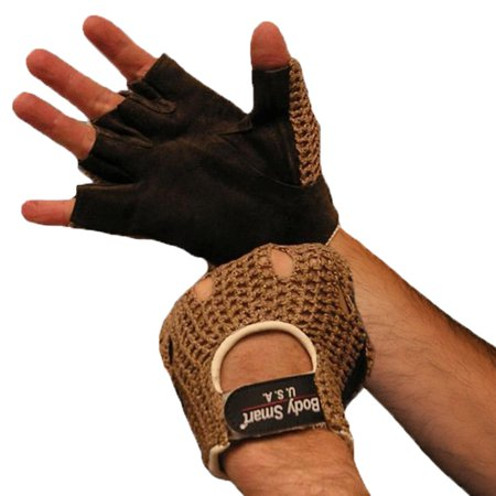 Weightlifting Gloves Real Leather Mesh Back Tan XX-Large Tan Color Leather Weight