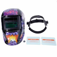Solar Powered Auto Darkening Welding Helmet with Baffles Clown Pattern