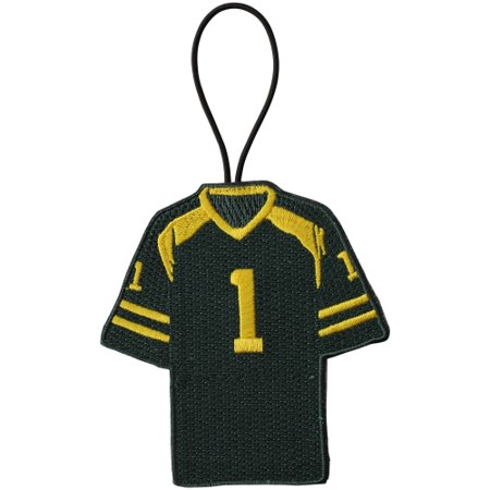 Embroidered Leather Jersey - Oregon Ducks Embroidered Two-Sided Jersey Ornament - No Size