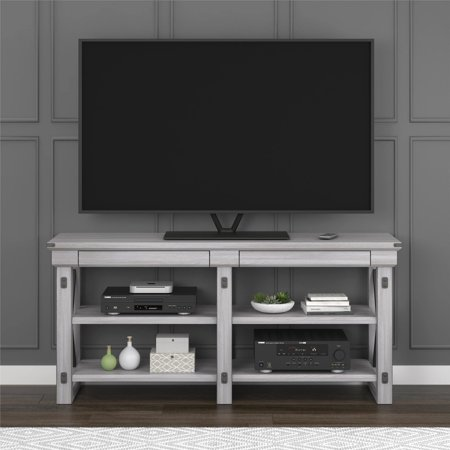 Avenue Greene Woodgate Rustic White Tv Stand For Up To 65 Inch Wide
