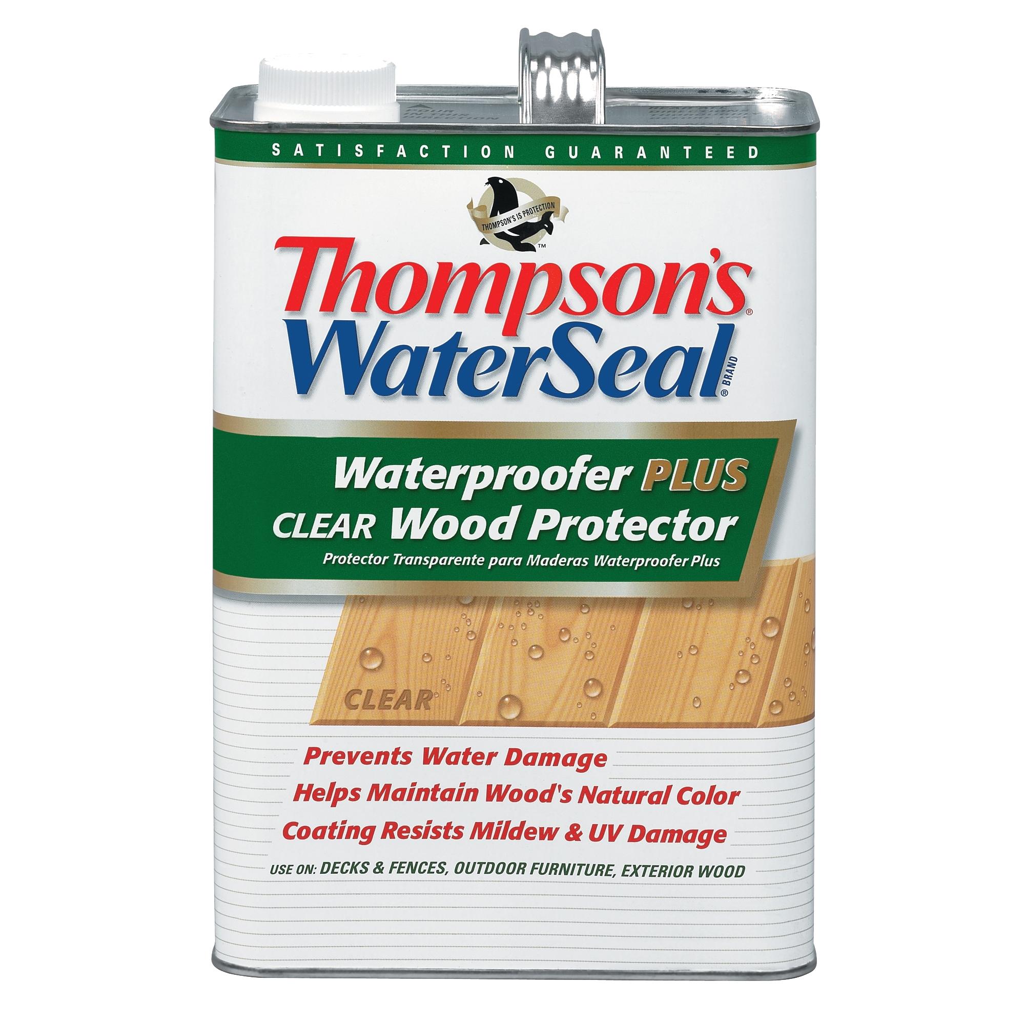 Thompson's Waterseal Waterproofer Plus Clear Wood Protector, Low VOC, Gal