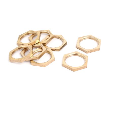 Uxcell 1/2BSP Brass Female Thread Hex Nut Pipe Fitting Locknut - Nuts Pipe Plugs