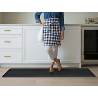 NewLife By GelPro Anti-Fatigue Kitchen Runner Comfort Floor Mat-20x72-Leather Grain, Black