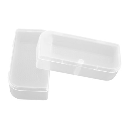 Plastic Earphone Storage Case Box Holder Container Clear 2 PCS - image 2 of 2