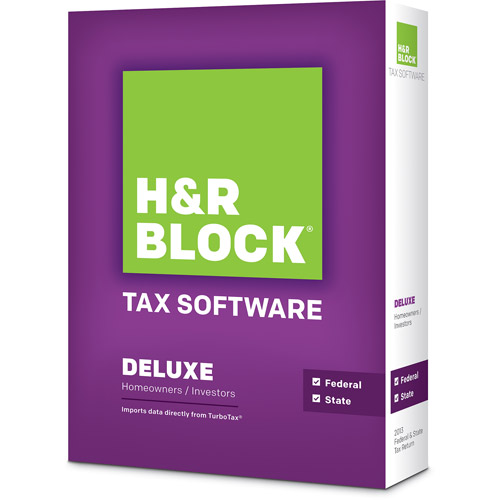 H&R Block Tax Software 13 Deluxe Plus State (PC/Mac)