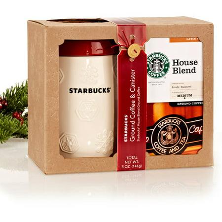 Starbucks Ground Coffee & Canister Gift Set - Walmart.com