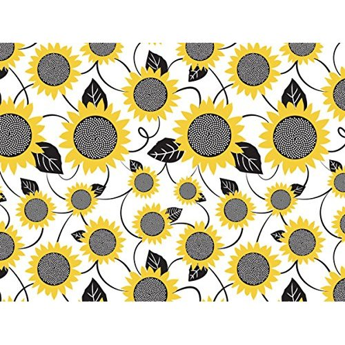 "SunFlower Print Gift Wrap Tissue paper 20"" X 30"" - 12 Large Sheets"