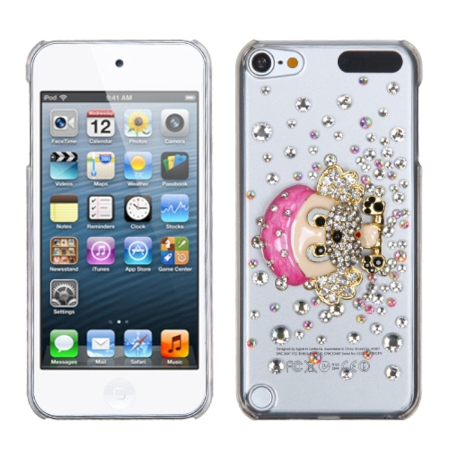 Insten Dog-Gnaw-Bone Crystal 3D Diamante Back Case For iPod Touch 6 6th 5 5th Gen