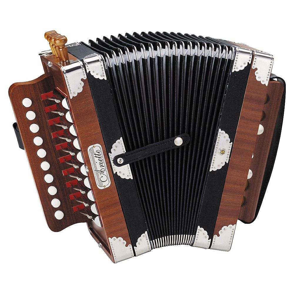 Hohner 3002 Ariette Folk Cajun Accordion Natural Brown by Hohner