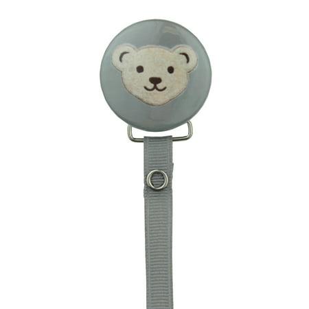 Teddy Bear Face Pacifier Clip