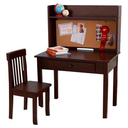 Kidkraft Pinboard 3 Piece 31 Writing Desk And Hutch Set