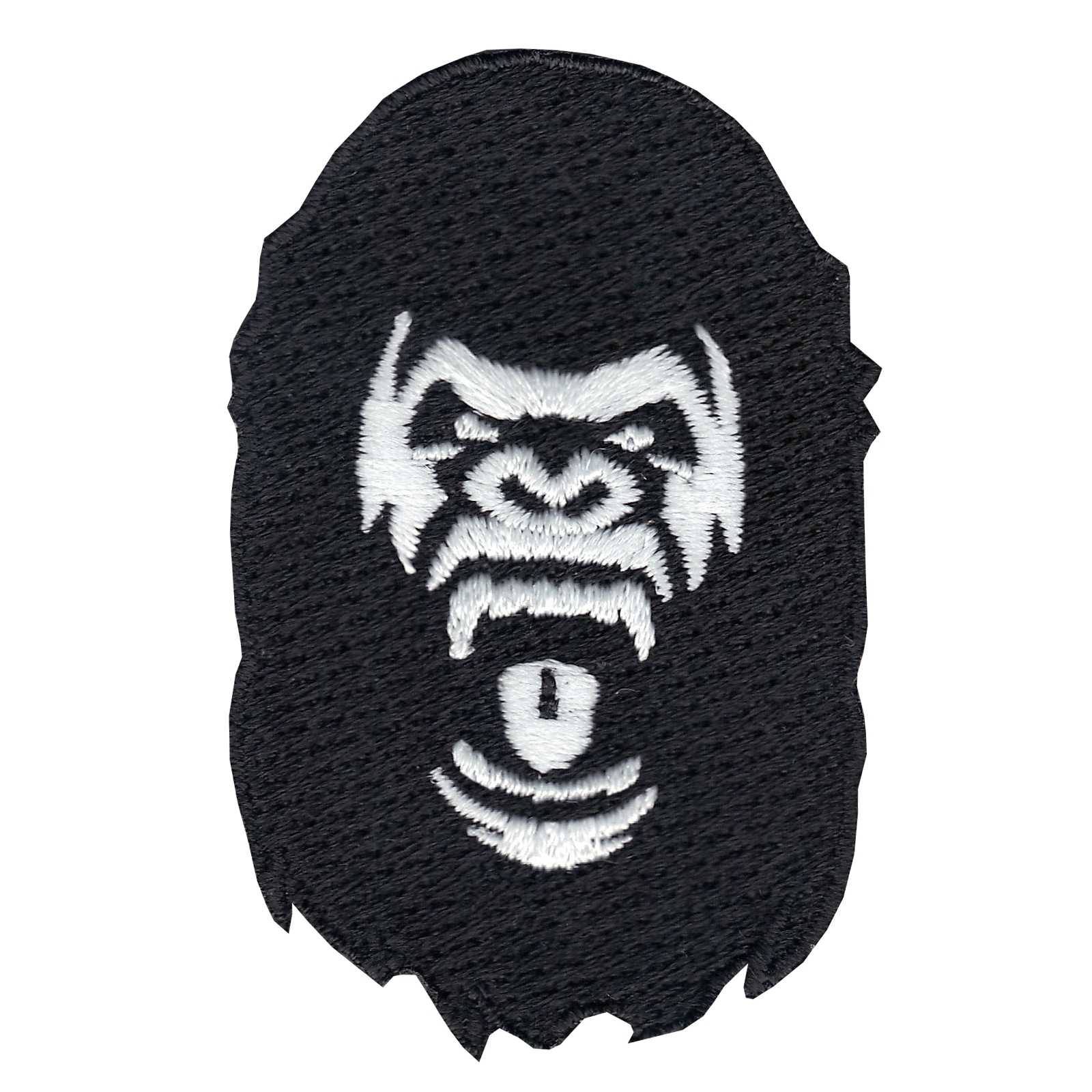 Ape Head Iron On Applique Patch