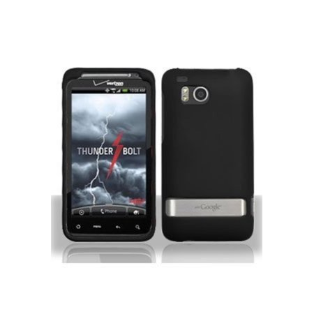 HTC ThunderBolt Rubberized Shield Hard Case - Black, Durable high quality ABS plastic construction to be light-weight and strong to protect the.., By - Black Construction Plastic