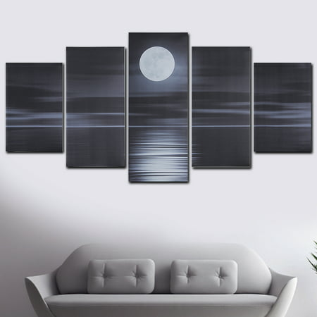Multi-style 5 Panel Canvas Wall Art Unframed  Oil Painting Picture Prints Modern Abstract Home Hanging Decor