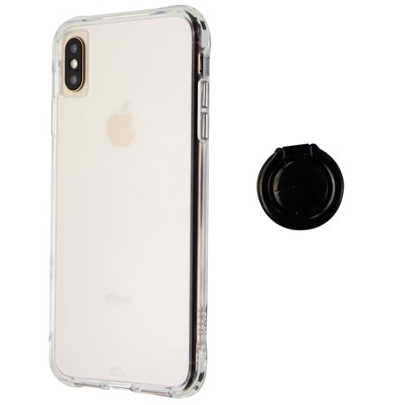 best loved e0b58 185c5 Case-Mate Tough Series Hard Case with Finger Loop Ring for iPhone XS Max -  Clear