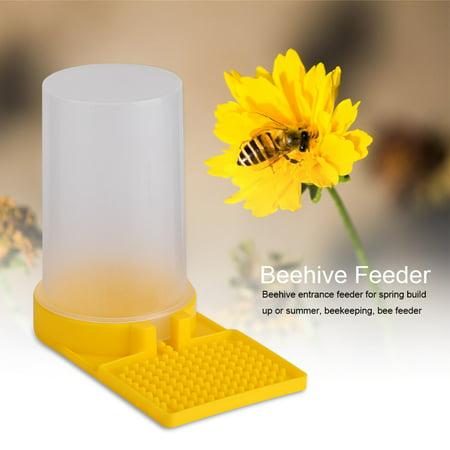Image of LHCER Plastic Bee Feeder Beehive Drinking Bowl Bee Keeping Equipment Beekeeping Tool, Bee Water Drinking Bowl,Bee Feeder