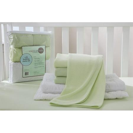 American Baby Company Crib Starter Kit - Celery