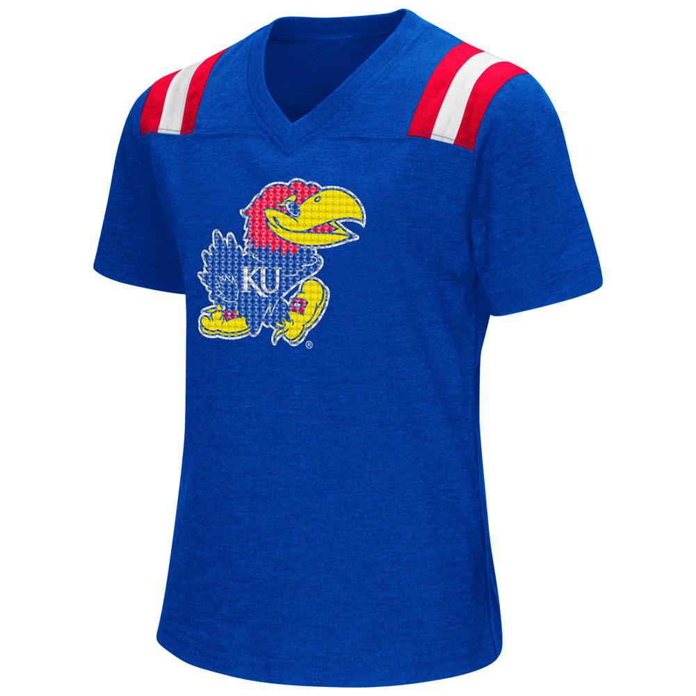 Youth Girls Colosseum Rugby Kansas Jayhawks KU T-Shirt