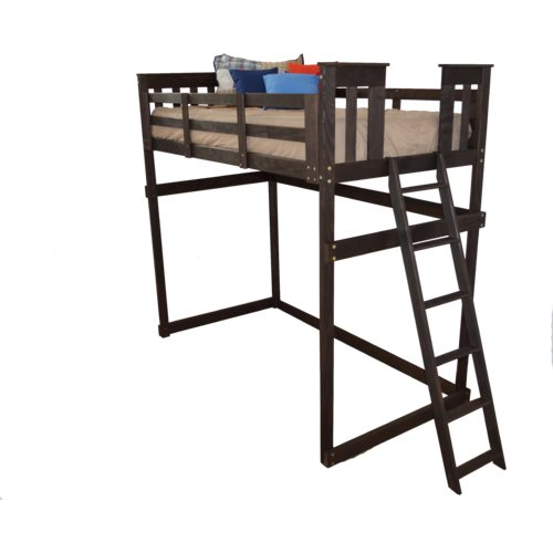 Zoomie Kids Swainsboro Loft Bed with Ladder