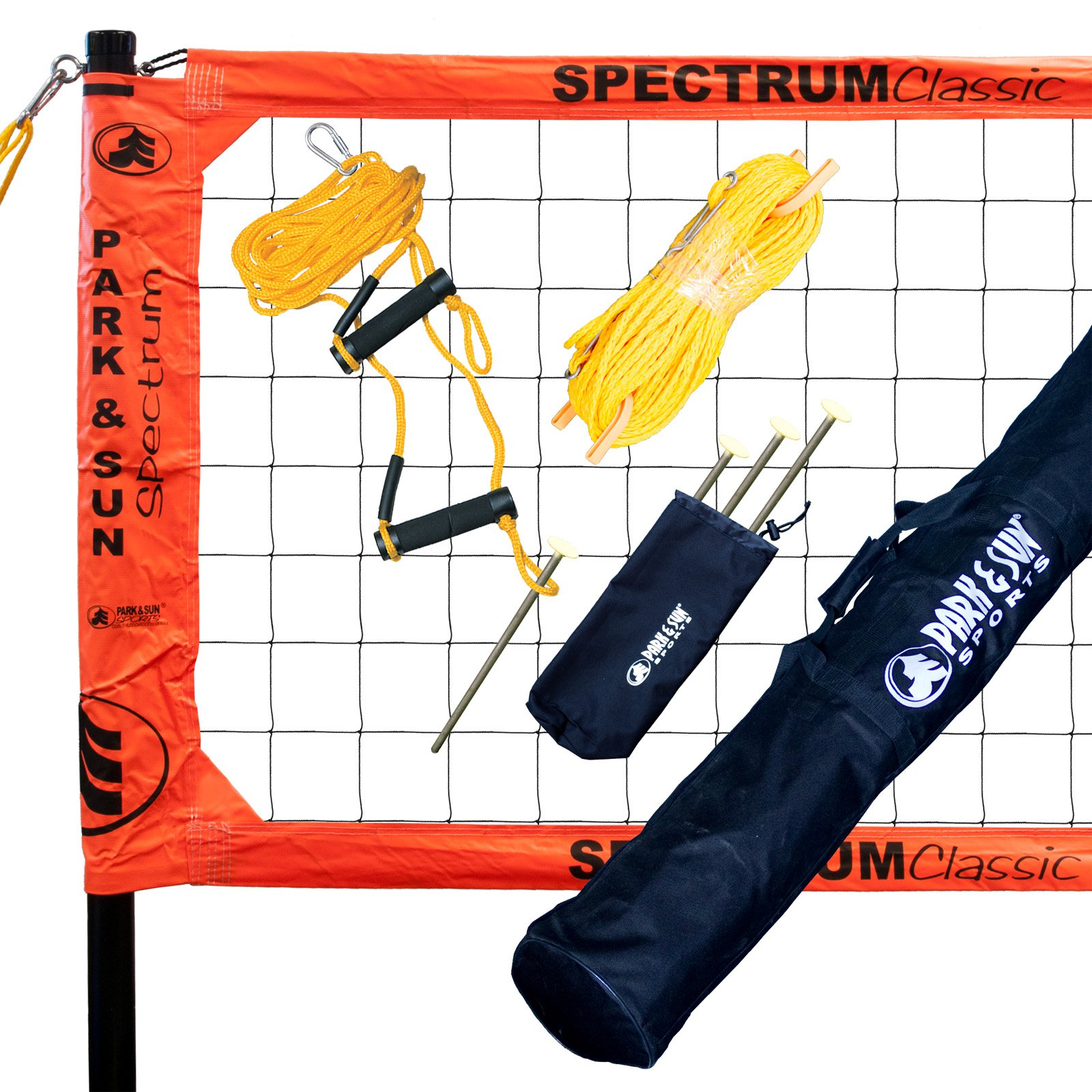 Park And Sun Sports Spectrum Classic Volleyball Net System Orange