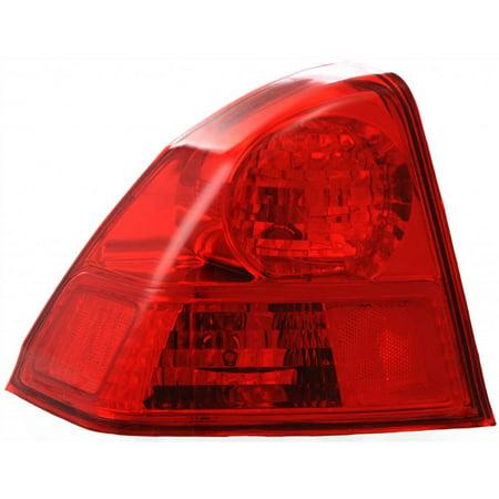 For Honda Civic Tail Light 2003 2004 2005 Driver Side DOT Certified HO2800153 - 33551-S5D-A51 ;for Sedan; quarter panel mounted: ; for Japan Built