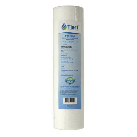 Tier1 Replacement for Pentek PD-25-934 25 Micron 10 x 2.5 Spun Wound Polypropylene Sediment Water - Wound Polypropylene Filter