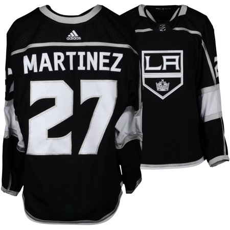 d6f1204eb Alec Martinez Los Angeles Kings Game-Used #27 Black Jersey from the 2017-18  NHL Season - Size 56 - Fanatics Authentic Certified - Walmart.com