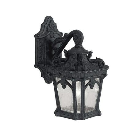 Wall Sconces Light With Textured Black Finish Medium Base Bulb - 6 inch black cove base