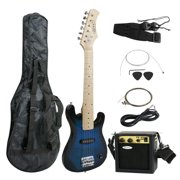 "Zeny 30"" Blue Electric Guitar + 5 Watt Amp + Gig Bag Case + Guitar Strap Beginners"
