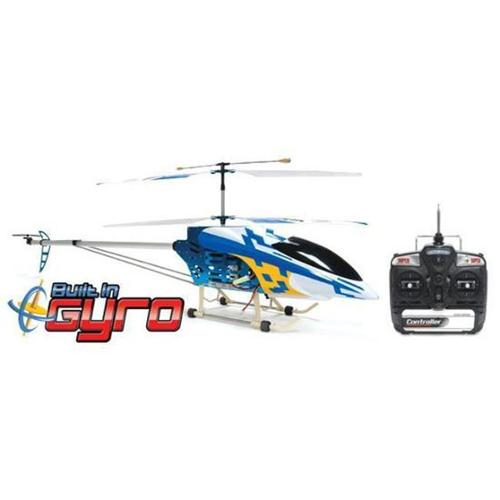 AZ HG90M Blue 49 inch FXD 3. 5 Channel Gyroscope Metal Frame RC Helicopter with LED lights, Blue