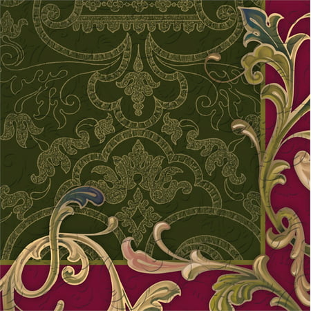 Cypress Home Baroque Borders Embossed Paper Cocktail Napkins, 20 (Baroque Cocktail)