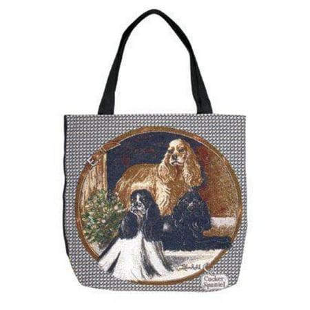 "Cocker Spaniel Dogs Decorative Shopping Tote Bag 17"" X 17"""