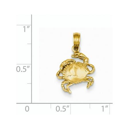 14k Crabe jaune d'or (11x29mm) Pendentif / Breloque - image 1 de 2