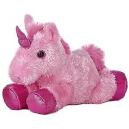 """Aurora 8"""" Mini Flopsie Plush Unicorn - Pink"""