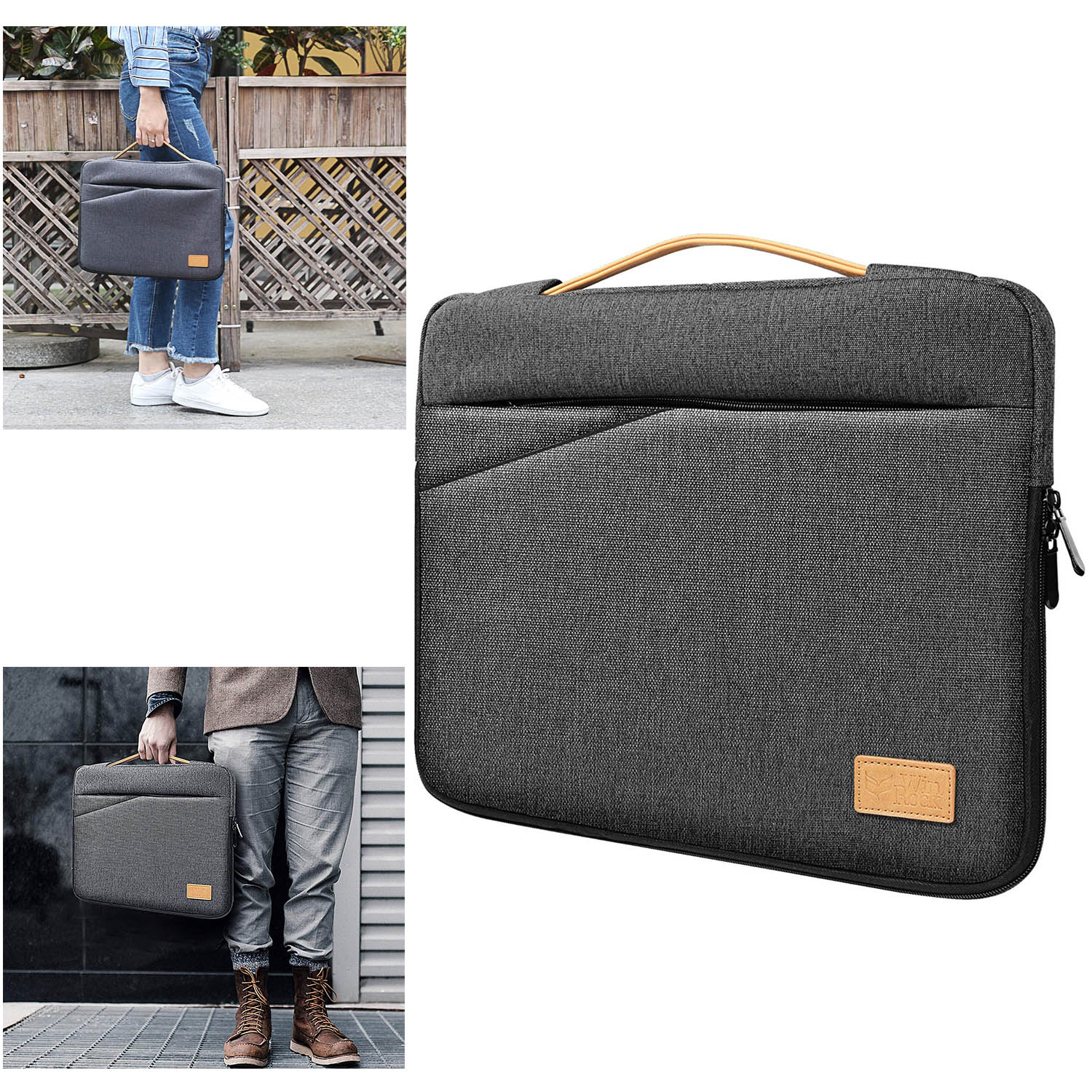 13-13.5 Inch Laptop Sleeve Case Bag for Macbook Pro/ProRetina HP Dell Acer Asus Thinkpad Laptops Notebooks Ultrabooks Tablets with Handle Spill-Resistant Carrying Case Protector Briefcase Handbag