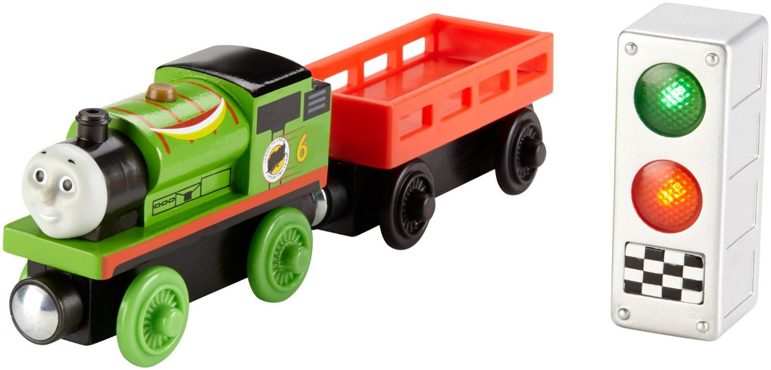 Fisher Price Thomas the Train Wooden Railway Ready, Set, Race Percy by Fisher-Price