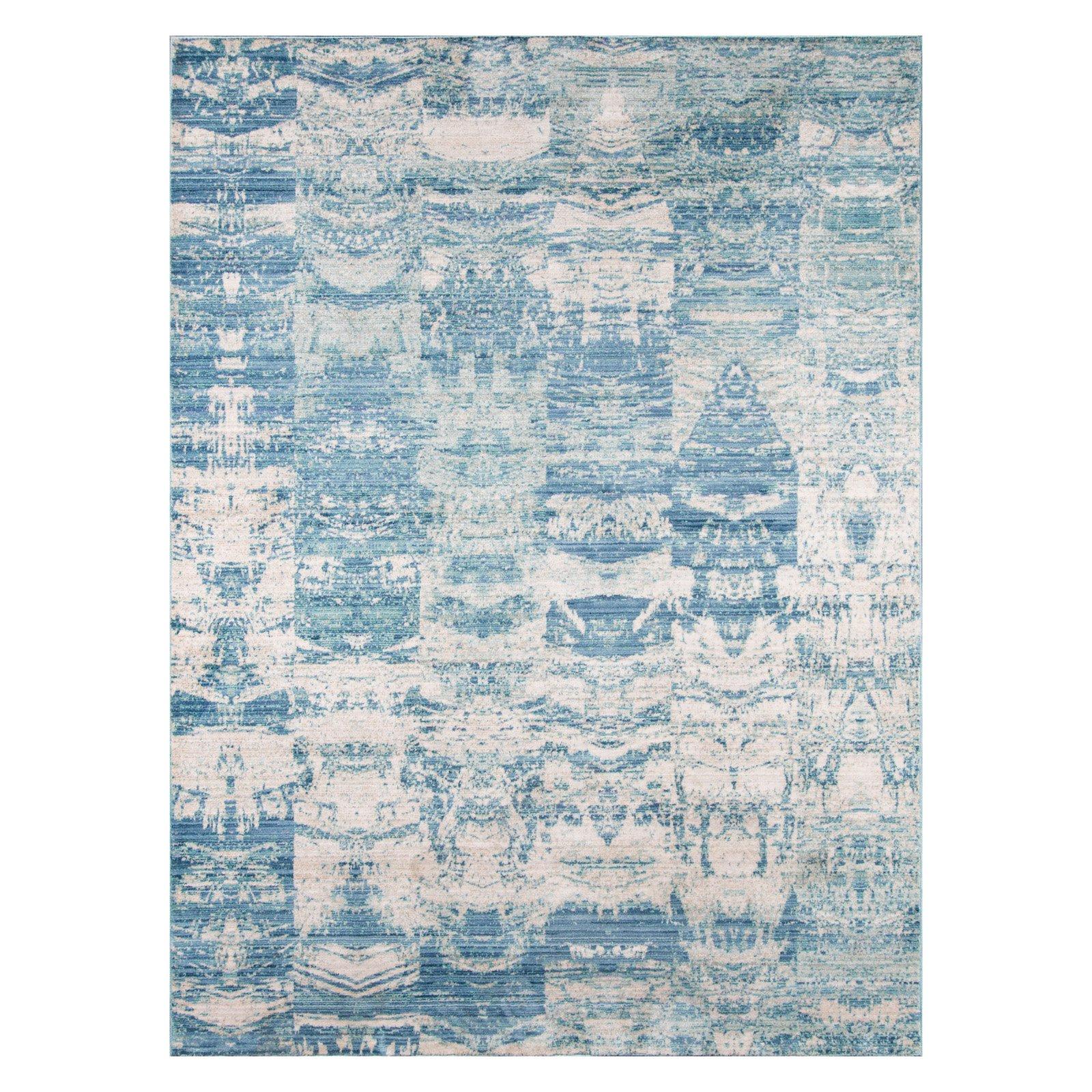 Momeni Rustic Romance Polyester Machine Made Blue Area Rug 2' X 3'