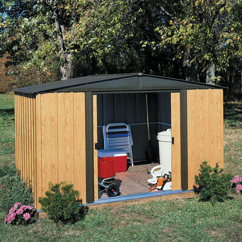 Arrow Woodlake 8 Ft. W x 6 Ft. D Steel Storage Shed