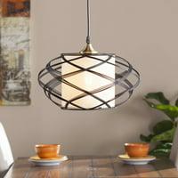 Southern Enterprises Alevo Wire Cage Pendant Lamp