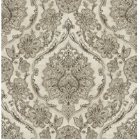 Chesapeake Carnegie Black Damask Wallpaper