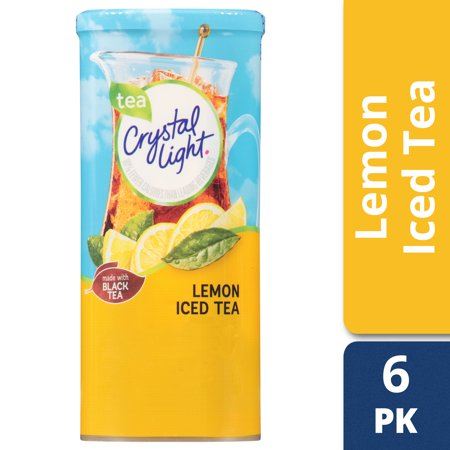 Crystal Light Lemon Iced Tea Drink Mix, 6 count Canister - Halloween Drinks Dry Ice Alcoholic