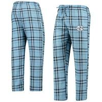 North Carolina Tar Heels Concepts Sport Hillstone Flannel Pants - Carolina Blue
